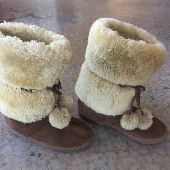 c84966c4709a9 J. Crew Shoes | J Crew Size 10 Womens Fuzzy Boots | Poshmark